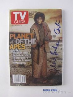 Helena Bonham Carter Autographed 2001 Planet Of The Apes TV Guide Issue