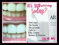 Natural Teeth Whitening Remedies Get your Natural, White teeth back with this Amazing, Stain removing toothpaste! Perfect for Smokers, Coffee and Soda drinkers! Ap 24 Whitening Toothpaste, Best Toothpaste, Whitening Fluoride Toothpaste, Teeth Whitening Remedies, Natural Teeth Whitening, Skin Whitening, Dental, Lighten Skin, Social Networks