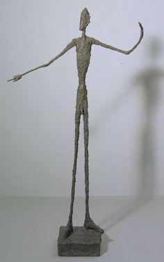 Alberto Giacometti (1901‑1966): Man Pointing / Homme signalant. 1947 - Medium: Bronze - Dimensions object: 1780 x 950 x 520 mm