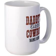 Add Name Daddy's Little Cowboy Large Mug