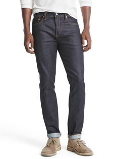 STRETCH selvedge skinny fit jeans