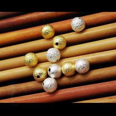 100pcs Frosted Copper 12mm Spacer Round Beads for Jewelry DIY Loose Ball