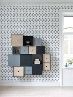 Quadrat-Puzzle-Wandregal-Schränkchen