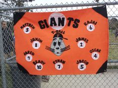 Clemson tigers - RALL TBall - kids names and numbers on paw prints For opening day parade Osu Baseball, Baseball Coach Gifts, Baseball Buckets, Baseball Banner, Baseball Season, Girls Softball, Softball Stuff, Baseball Stuff, Team Mom