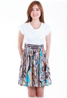 Armida Abstract Pleated Dress