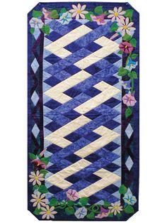 New Quilt Patterns - September Morning Glories Table Runner Pattern