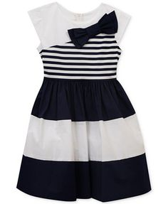 Rare Editions Colorblocked Bow-Detail Dress, Toddler & Little Girls (2T-6X) | macys.com