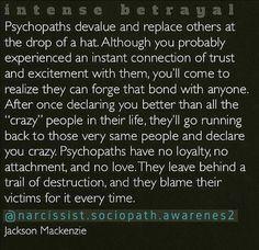 Psychopath, sociopath, narcissist