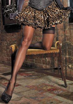 Leg Avenue A1720 - Leopard Print Chiffon Layered Mini Petticoat Skirt $33.50