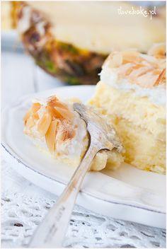Ciasto Pina colada - I Love Bake Pina Colada, Camembert Cheese, Baking, Food, Pineapple, Bakken, Essen, Meals, Backen