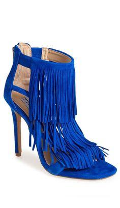 Cobalt Blue Fringe Heels ❤︎