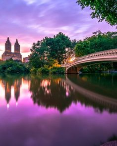 Bow Bridge Central Park - Winter/Summer sunsets by fullmetalphotography | via newyorkcityfeelings.com - The Best Photos and Videos of New York City including the Statue of Liberty Brooklyn Bridge Central Park Empire State Building Chrysler Building and other popular New York places and attractions.
