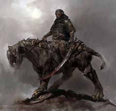 Warrior by FenghuaArt fighter barbarian rogue thief assassin ranger beastmaster riding cat mount beast creature monster armor clothes clothing fashion player character npc | Create your own roleplaying game material w/ RPG Bard: www.rpgbard.com | Writing inspiration for Dungeons and Dragons DND D&D Pathfinder PFRPG Warhammer 40k Star Wars Shadowrun Call of Cthulhu Lord of the Rings LoTR + d20 fantasy science fiction scifi horror design | Not Trusty Sword art: click artwork for source