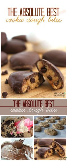 The Absolute Best Cookie Dough Bites on Frugal Coupon Living. We made ours Egg shapped to use as an Eater Dessert buut they are great any time of the year. This cookie dough recipe is egg free.