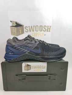 fdd84b09305 Details about NIKE METCON DSX FLYKNIT LE CROSSFIT TRAINING SHOES BLACK NAVY  916280-004 Size