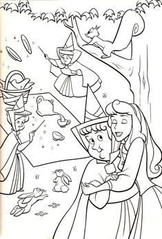 Sweet Aurora Coloring Page For Girls