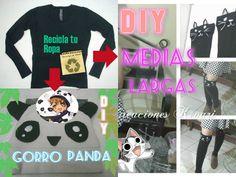 Recicla tu ropa en Gorro de panda y medias de gatito