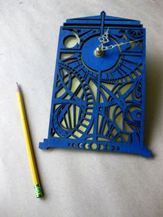 dr. who timey wimey tardis clock on etsy, $42.00...laser cut, clock movement and backing...seriously in love with this!