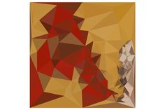 Red Ginger Abstract Low Polygon Back by patrimonio on Creative Market