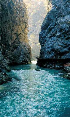 The Vintgar Gorge in Slovenia
