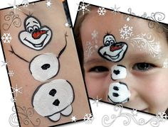 How to paint a Frozen Themed Olaf! Everyone Loves warm hugs! The movie Frozen has been a worldwide hit, and with that came Olaf face paintings! Preparation : *