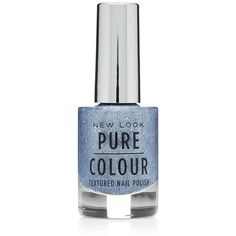 Pure Colour Blue Textured Nail Polish ($4.61) ❤ liked on Polyvore featuring beauty products, nail care, nail polish, beauty, nails, makeup, blue, matte nail polish, blue sparkle nail polish and matte nail color
