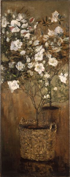 "Giovanni Segantini (Italian, 1858-1899) - ""The azaleas"", 1884-85"