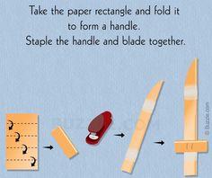 Making a Paper Kitchen Knife