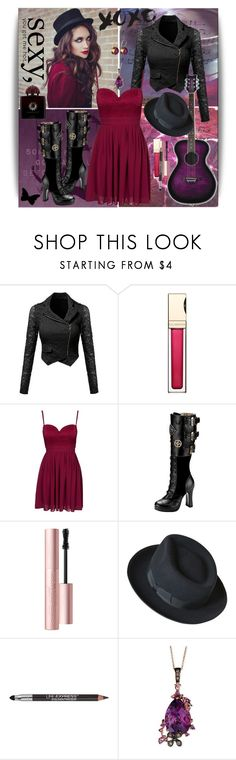 """""""XOXO"""" by julyralewis ❤ liked on Polyvore featuring Clarins, Elise Ryan, Too Faced Cosmetics, Dunn, Maybelline, LE VIAN and AMOUAGE"""