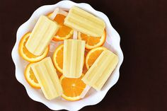 Pineapple Orange Banana Popsicles | gimmesomeoven.com