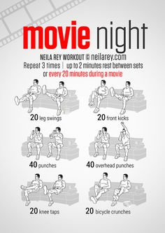 Movie night doesn't have to be a lazy night. Here are great exercises you can do on your couch!