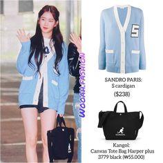 Kpop Fashion Outfits, Blackpink Fashion, Korean Fashion, Korean Style, Sandro, Canvas Tote Bags, Evening Dresses, Stylists, Female
