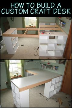 This Custom Made Craft Table Lets You Keep Everything Tidy, Organised And Close at Hand
