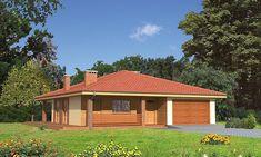 Projekt domu parterowego Murator C114 Znany o pow. 125,5 m2 z garażem 1-st., z dachem kopertowym, z tarasem, sprawdź! Gazebo, Shed, Outdoor Structures, Kiosk, Pavilion, Cabana, Barns, Sheds