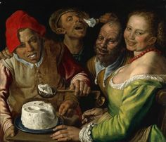 Vincenzo Campi, Les Mangeurs de ricotta, vers 1580. Huile sur toile, Musée des Beaux-Arts de Lyon © Lyon MBA – Photo Alain Basset