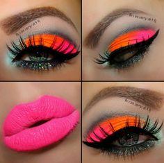 maquillaje de ojos de fantasia morado y negro - Buscar con Google