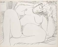 Picasso, Pablo (nach). Femme Nue I und IV. 1972. Lithographien auf Velin d'Arches. Je ca. 39,9 x 49,