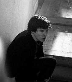 .GIF of Benedict Cumberbatch - much larger when you click through. From the unaired original Sherlock pilot?