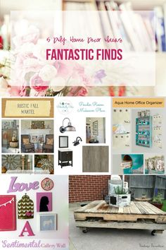 Fantastic Finds: 5 DIY Home Decor Ideas - Happily Ever After, Etc.