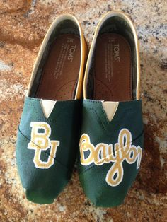 Custom Collegiate Gameday TOMS Baylor University by LaClareDesigns, $95.00