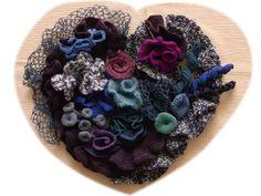 ハート     the shape of a heart : 糸始末な日々 Thread Handing Days
