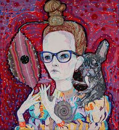 Self-Portrait with Studio Wife by Del Kathryn Barton