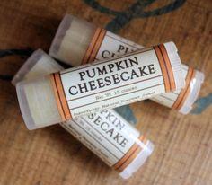pumpkin cheesecake chap stick for fall