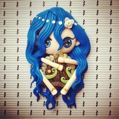 La gardienne de la porte magique (magnet) Magnet, Smurfs, Flora, Creations, Boutique, Vintage, Fictional Characters, Etsy, Art