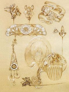 1902 'Documents Décoratifs Plate 50 © Alphonse Mucha Estate/Artists Rights Society (ARS), New York/ADAGP, Paris