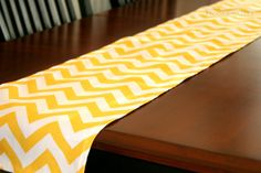 Items similar to Yellow Table Runner- Premier Prints Yellow Chevron- Choose Size- Wedding Reception Dinner Party Events Table Topper Chevron Home Decor on Etsy Chevron Home Decor, Yellow Table, Yellow Chevron, Premier Prints, Spring Home Decor, Table Toppers, Wedding Table, Wedding Ideas, Table Runners