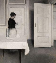 "Wilhelm Hammershøi - ""Ida læser et brev"""
