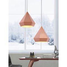 Forecast Single-light Rose Gold Ceiling Lamp