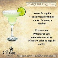 Daiquiri Tequila, con Tequila El Charro! #TequilaElCharro #Tequila #Coctel #Cocktail #DaiquiriTequila