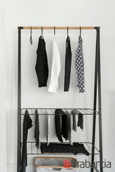 Do you need some decorative storage space? Linn is ready for you! With a solid bamboo rod and two height-adjustable shelves, Linn remains standing under all circumstances and in every décor. Use it as a wardrobe rack, drying rack, airing rack, as a storag Types Of Furniture, Furniture Making, Cool Furniture, Furniture Design, Rustic Furniture, Furniture Ideas, Living Room Designs, Living Room Decor, Bedroom Decor
